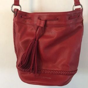 Lucky Brand NWT red braided bucket bag.NWT